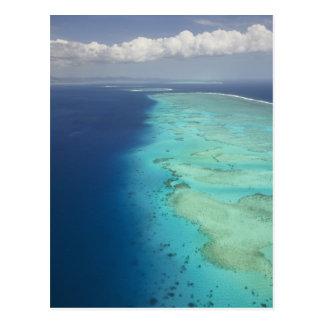 Carte Postale Barrière de corail de Malolo outre d'île de
