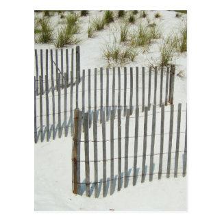 Carte Postale Barrière de dune de sable