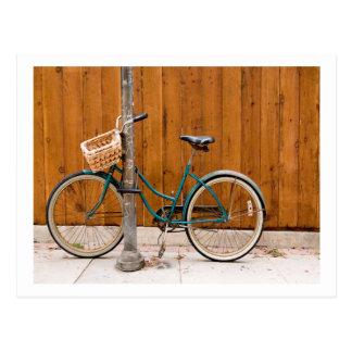 Carte Postale Barrière de recyclage allante à vélo de cycle de