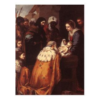 Carte Postale Bartolome Murillo - l'adoration des Magi