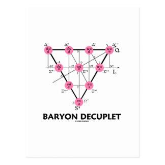 Carte Postale Baryon Decuplet (physique de particules)