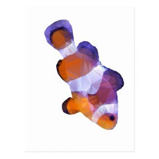 Carte Postale Bas poly poissons de clown