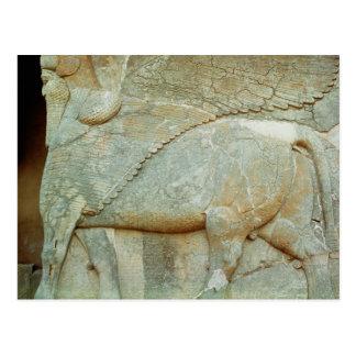 Carte Postale Bas-soulagement d'un taureau anthropomorphe