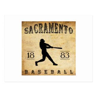 Carte Postale Base-ball 1883 de Sacramento la Californie