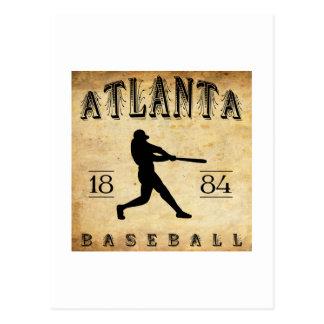 Carte Postale Base-ball 1884 d'Atlanta la Géorgie