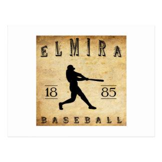 Carte Postale Base-ball 1885 d'Elmira New York