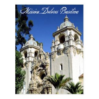 Carte Postale Basilique de Dolores de mission, San Francisco, CA