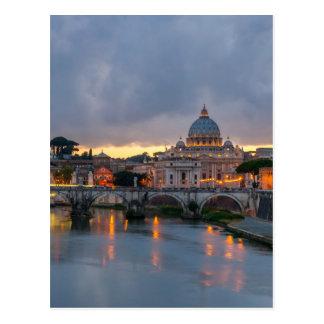 Carte Postale Basilique Rome Italie de St Peter de pont de