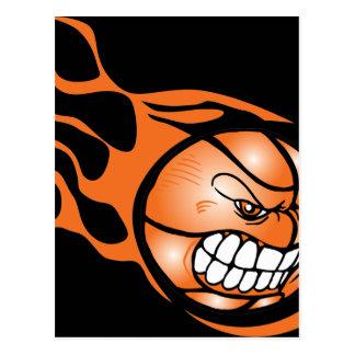 Carte Postale Basket-ball brûlant fâché