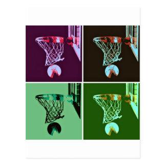 Carte Postale Basket-ball d'art de bruit