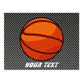 Carte Postale Basket-ball de regard de fibre de carbone