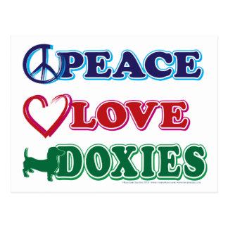 Carte Postale Basset allemand de Paix-Amour-Doxies