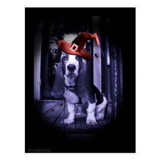 Carte Postale Basset Hound Howloween 2010