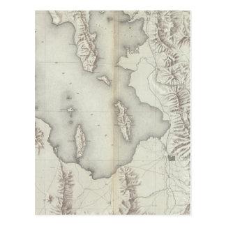 Carte Postale Bassin de l'Utah topographique