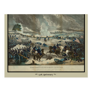 Carte Postale Bataille de couleur d'eau de Gettysburg