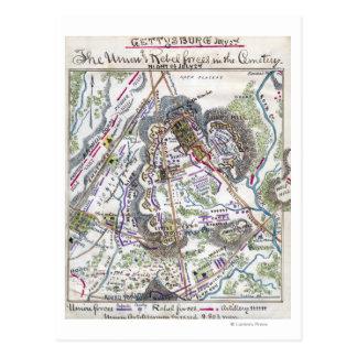 Carte Postale Bataille de Gettysburg 6