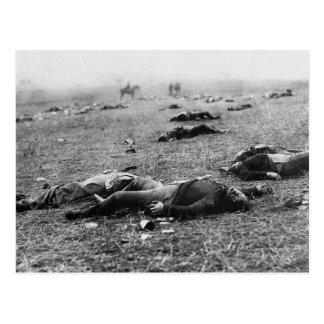 Carte Postale Bataille de récolte de ~ de Gettysburg la mort en