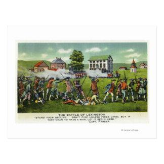Carte Postale Bataille de scène de Lexington