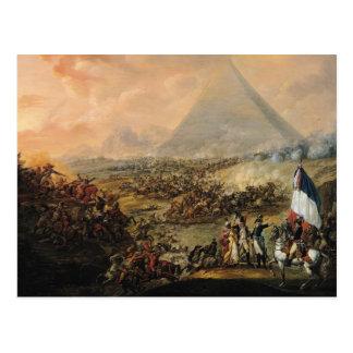 Carte Postale Bataille des pyramides, le 21 juillet 1798