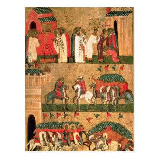 Carte Postale Bataille du Novgorodians avec le Suzdalians
