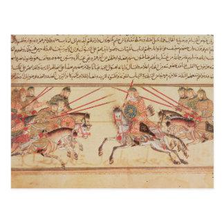 Carte Postale Bataille entre les tribus mongoles, 13ème siècle