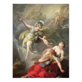 Carte Postale Bataille entre Minerva et Mars, 1771