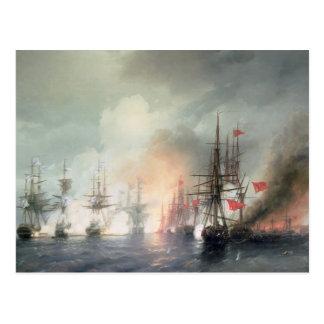 Carte Postale Bataille navale Russe-Turque de Sinop