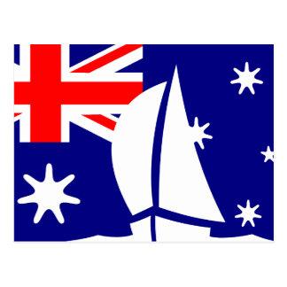 Carte Postale Bateau à voile de drapeau de l'Australie nautique