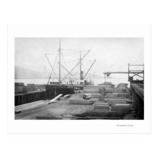 Carte Postale Bateau de Hubbard de bois de charpente de