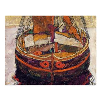Carte Postale Bateau de pêche d'Egon Schiele- Trieste