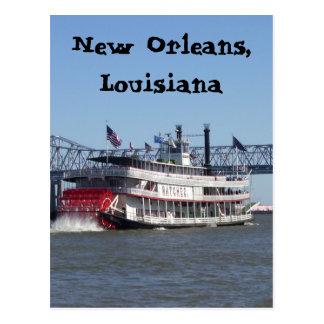 Carte Postale Bateau de rivière à la Nouvelle-Orléans
