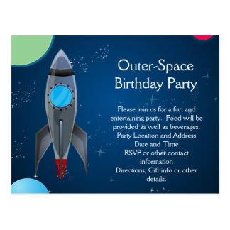 Carte Postale Bateau de Rocket d'espace extra-atmosphérique