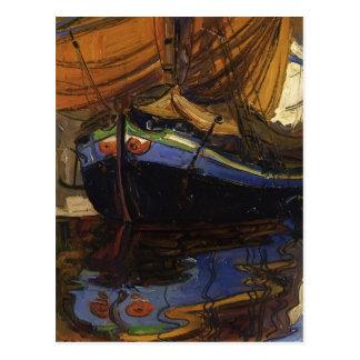 Carte Postale Bateau de Schiele-Navigation d'Egon avec la