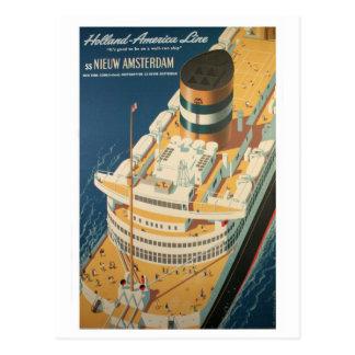 Carte Postale Bateau transatlantique vintage