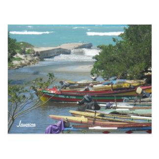 Carte Postale Bateaux colorés Negril Jamaïque
