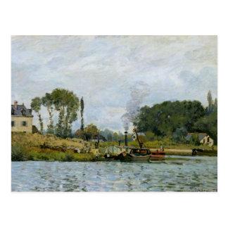 Carte Postale Bateaux d'Alfred Sisley | à la serrure chez