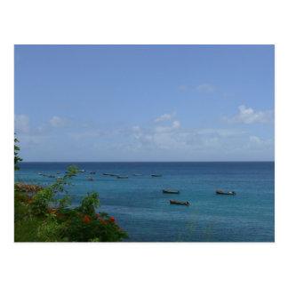 Carte Postale Bateaux de Pêcheurs - Martinique, FWI