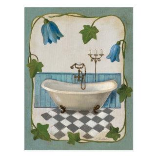 Carte Postale Bath de fleur de Bell
