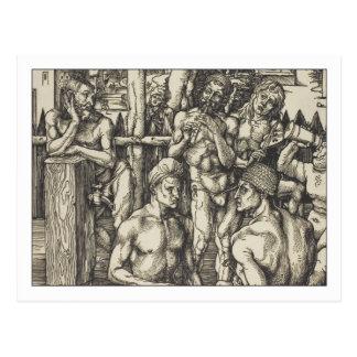 Carte Postale Bath des hommes par Albrecht Durer