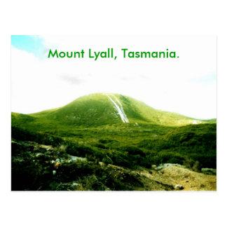 Carte Postale Bâti Lyall, Tasmanie