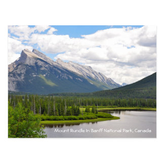Carte Postale Bâti Rundle en parc national de Banff, Canada