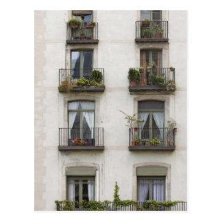 Carte Postale Bâtiment avec des balcons