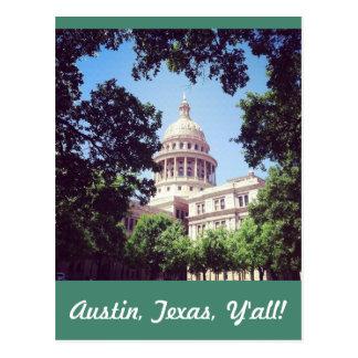 Carte Postale Bâtiment de capitol d'Austin le Texas