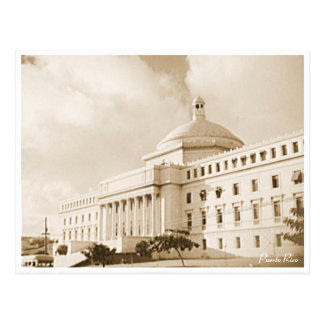 Carte Postale Bâtiment de capitol, San Juan, histoire, Porto