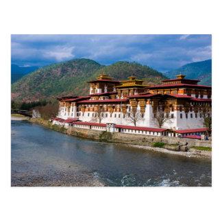 Carte Postale Bâtiment de Dzong par la rivière
