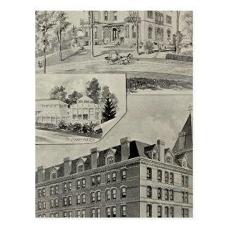 Carte Postale Bâtiment de Harris, nouvelle Londres, conn.