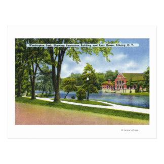 Carte Postale Bâtiment de récréation et Boathouse