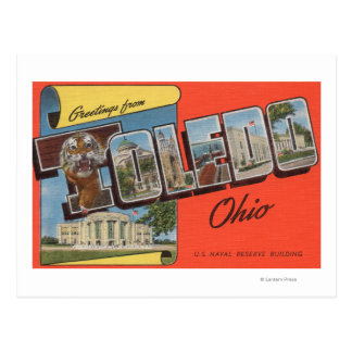 Carte Postale Bâtiment de réservation navale de Toledo, Ohio -