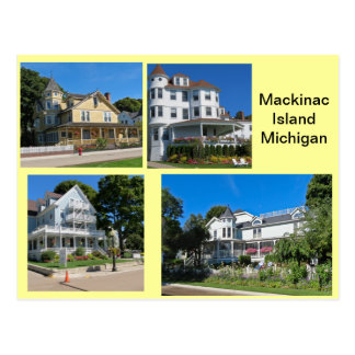 Carte Postale Bâtiments d'île de Mackinac