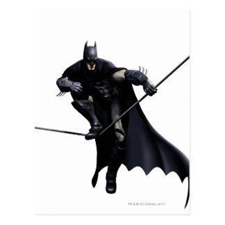 Carte Postale Batman faisant un pas sur la ligne